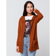 FULL CIRCLE Womens Brown Hooded Cardigan