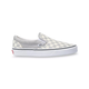 VANS Checkerboard Silver & True White Womens Slip-On Shoes