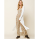 WEST OF MELROSE Get To The Bottom Of It Rib Button Womens Maxi Cardigan