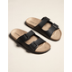 MADDEN GIRL Double Buckle Womens Black Slide Sandals