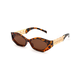 Versucci Rectangle Tortoise Sunglasses