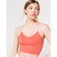 FULL TILT Lace Back Strappy Seamless Womens Brick Cami
