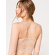 FULL TILT Lace Back Strappy Seamless Womens Nude Cami