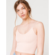 FULL TILT Strappy Seamless Light Pink Bralette