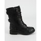 SODA Buckle Girls Combat Boots