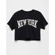 FULL TILT New York Womens Crop Tee