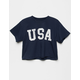 FULL TILT USA Womens Crop Tee