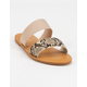BAMBOO Double Strap Womens Snake Sandals