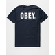 OBEY Official Mens Navy T-Shirt