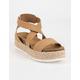 SODA Ankle Banded Womens Platform Sandals