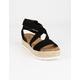 SODA Ankle Banded Womens Black Platform Sandals