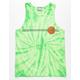 SANTA CRUZ Classic Dot Wash Mens Lime Tank Top