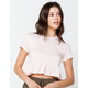 SKY AND SPARROW Crop Womens Rose Babydoll Top