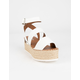 SODA Banded Womens White Flatform Sandals