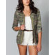 ASHLEY Camo Womens Anorak Jacket