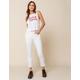 LEVI'S 501 Womens White Stretch Skinny Jeans
