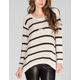FULL TILT Striped Womens Hi Low Sweater