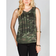 FULL TILT Camo Flag Womens Twist Back Tee