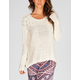 FULL TILT Nail Head Womens Hi Low Sweater