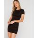 FULL TILT Cinch Side Black Bodycon Dress
