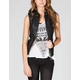 THERAPY Womens Hooded Faux Leather Vest