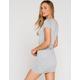 FULL TILT Cinch Side Heather Gray Bodycon Dress