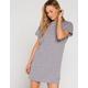 FULL TILT Solid Heather Gray T-Shirt Dress