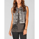 TINSELTOWN Womens Denim Vest
