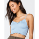 IVY & MAIN Solid Smock Womens Light Blue Crop Cami