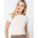 BDG Urban Outfitters Washed Womens White Baby Tee
