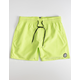 VOLCOM Lido Solid Mens Lime Volley Shorts