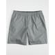 HOLLYWOOD Ultimate Mens Light Gray Compression Lined Hybrid Shorts