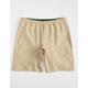 HOLLYWOOD Ultimate Mens Khaki Compression Lined Hybrid Shorts