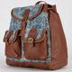 T-SHIRT & JEANS Floral Print 2 Pocket Backpack