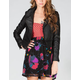 FULL TILT Womens Faux Leather Biker Jacket