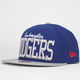 NEW ERA V Team Dodgers Mens Snapback Hat