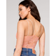 FULL TILT Lace Back Strappy Seamless Womens Coral Cami