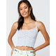 IVY & MAIN Ditsy Pointelle Womens Light Blue Cami