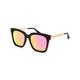 DIFF EYEWEAR Bella Matte Black & Pink Mirror Polarized Sunglasses
