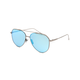 DIFF EYEWEAR Dash Aviator Light Gunmetal & Ice Blue Polarized Sunglasses