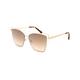 DIFF EYEWEAR Becky III Gold & Brown Gradient Sunglasses