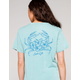 SALT LIFE Tropic Womens Teal Blue Pocket Tee