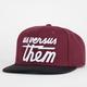 US VERSUS THEM Magnium Mens Snapback Hat