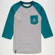 LRG Color Mens Baseball Pocket Tee