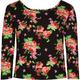 FULL TILT Floral Girls Bodycon Top