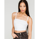 BOZZOLO Square Neck Womens White Crop Cami