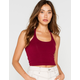 BOZZOLO Cropped Womens Burgundy Halter Top
