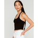 BOZZOLO Cropped Womens Black Halter Top