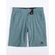 BILLABONG Crossfire Little Boys Slate Blue Hybrid Shorts (4-7)