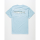 SALTY CREW Slime Stick Mens Light Blue T-Shirt